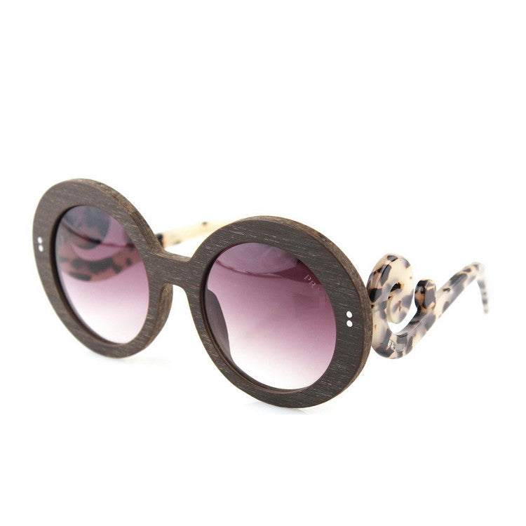 2016 Luxury Brand New Retro Vintage Grained Retro Round Womens Wood Sunglasses for Women Sun Glasses 5 Colors - WowAwesomeStuff  - 2