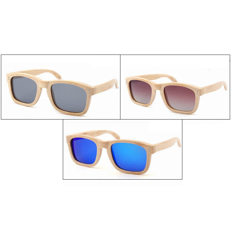 2016 New Polarized Aviator Bamboo Wood Sunglasses for Men Women Eyewear Gafas Oculos De Sol Brand Designer 3 Colors Hot Sale - WowAwesomeStuff  - 5