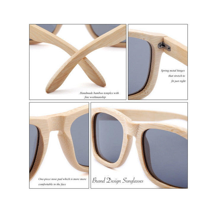 2016 New Polarized Aviator Bamboo Wood Sunglasses for Men Women Eyewear Gafas Oculos De Sol Brand Designer 3 Colors Hot Sale - WowAwesomeStuff  - 6