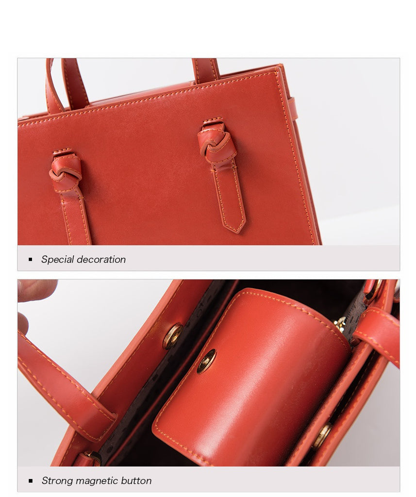 WowAwesome Real Cow Leather Ladies Women Handbag