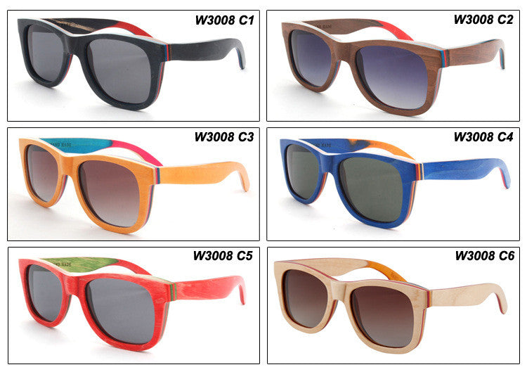 Retro Grained Vintage Style Polarized Handmade Wood Sunglasses Shades Sun Glasses - WowAwesomeStuff  - 12