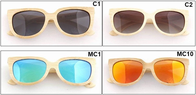 Handmade Aviator Wood Bamboo Sunglasses Shades for Men Women - WowAwesomeStuff  - 6