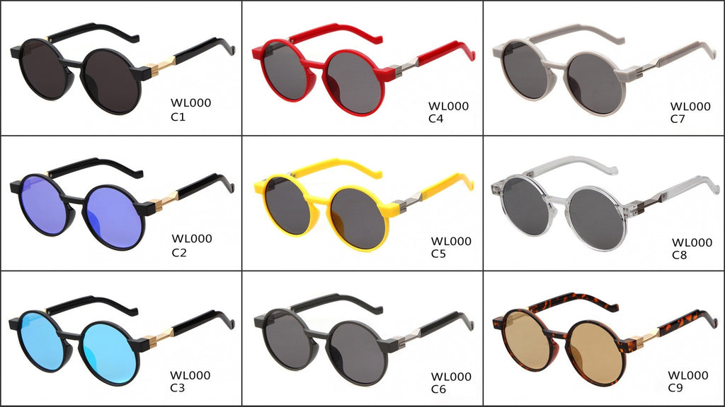Top Quality Retro Round Handmade Women Men Sunglasses Shades Goggles - WowAwesomeStuff  - 9