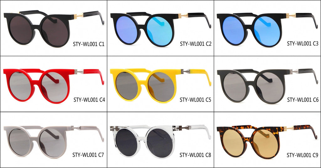 Round Very Unique Design Cat Eyes Steampunk Punk Sunglasses Shades Goggles - WowAwesomeStuff  - 6
