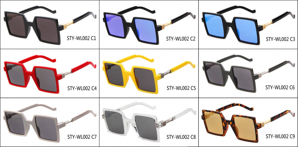 Unique Design Retro Vintage Style Quadrate Sunglasses Shades - WowAwesomeStuff  - 6