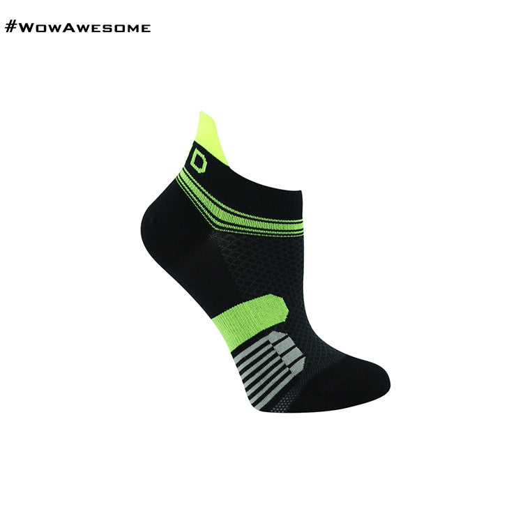 MadMatch Design MMD Black Green Womens Mens Sports Boot Ankle Socks for Men Women - WowAwesomeStuff  - 4
