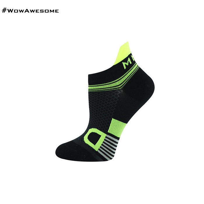 MadMatch Design MMD Black Green Womens Mens Sports Boot Ankle Socks for Men Women - WowAwesomeStuff  - 1