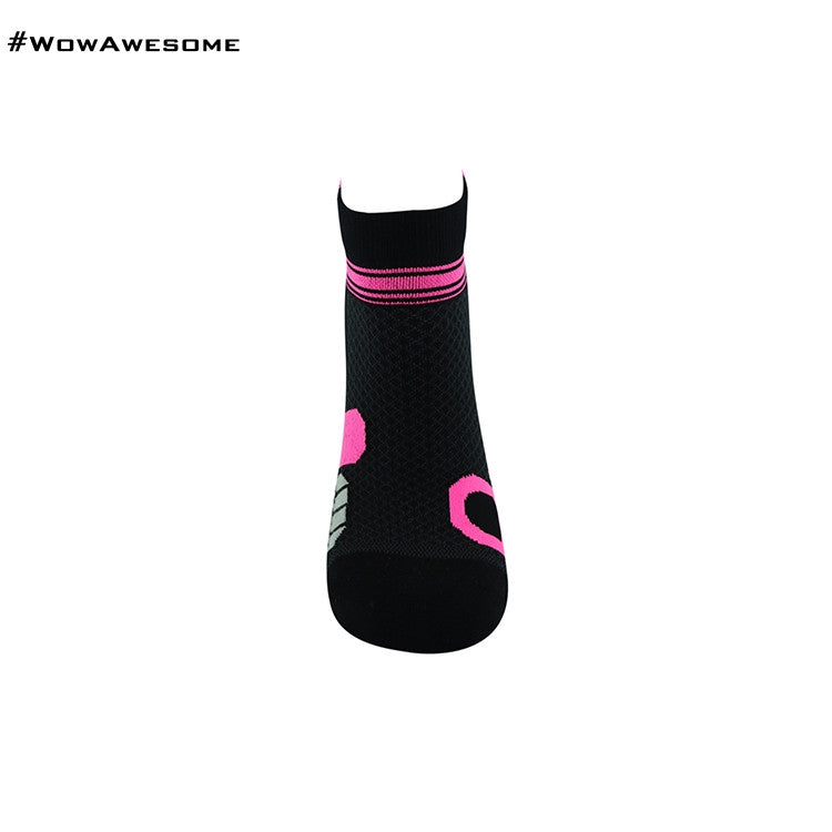 MadMatch Design MMD White Pink Womens Mens Sports Boot Ankle Socks for Men Women - WowAwesomeStuff  - 29