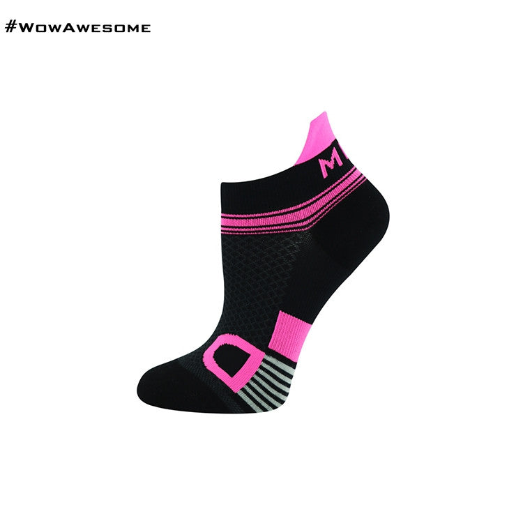 MadMatch Design MMD White Pink Womens Mens Sports Boot Ankle Socks for Men Women - WowAwesomeStuff  - 32