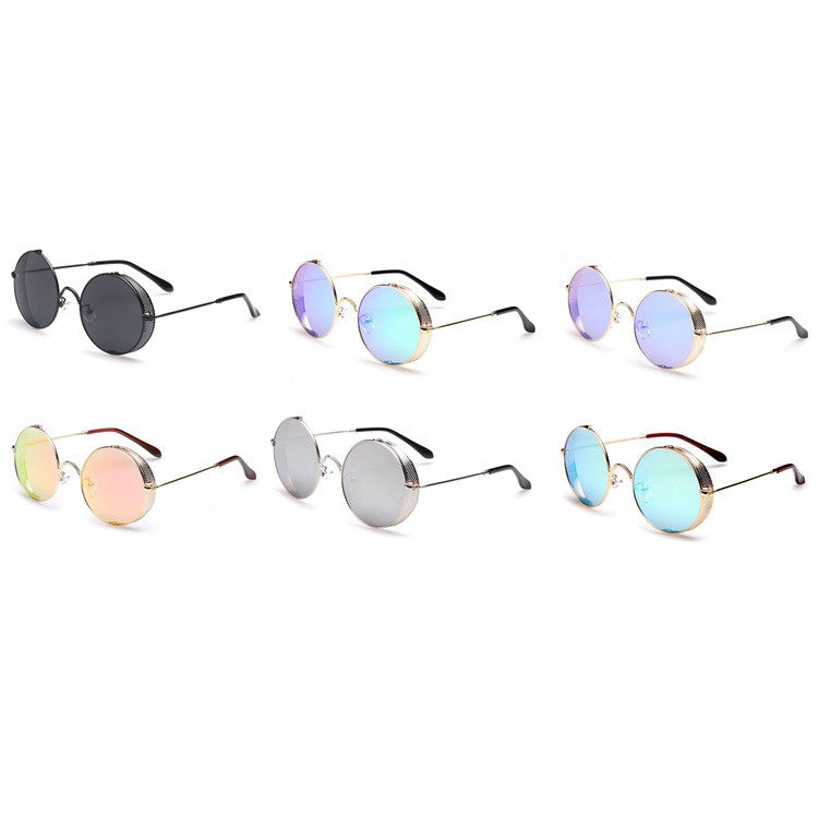 2016 Spring Brand New 6 Colors Retro Vintage Style Steampunk Punk Sunglasses Shades Goggles Sun Glasses for Women Men - WowAwesomeStuff  - 6