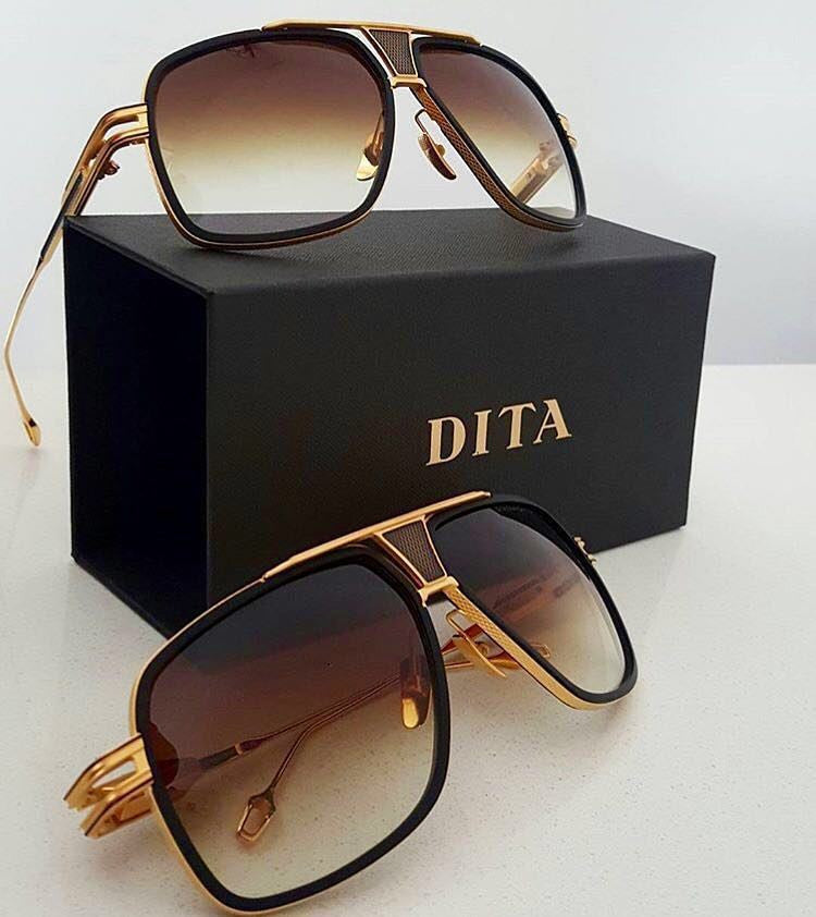 004 Dita 2016 Brown Famous Luxury Brand Retro Vintage Mens Womens Aviator Sunglasses for Men Women Sun Glasses Eyewear GrandMaster Five DRX 2077 T64 18K - WowAwesomeStuff  - 11