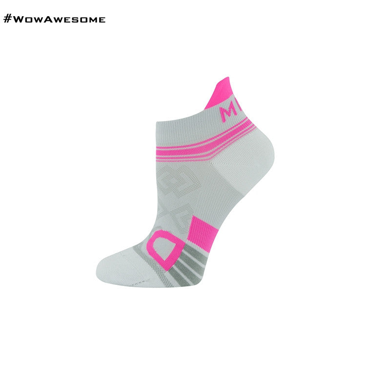 MadMatch Design MMD White Pink Womens Mens Sports Boot Ankle Socks for Men Women - WowAwesomeStuff  - 5