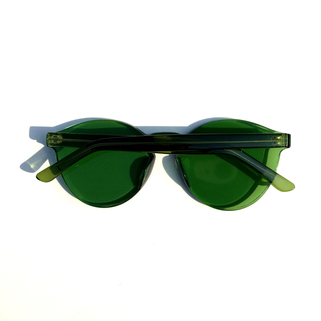Green Frameless Unique Design Vintage Retro Rimless Incomparable Cat Eyes Sunglasses Sun Glasses for Women Men - WowAwesomeStuff  - 3