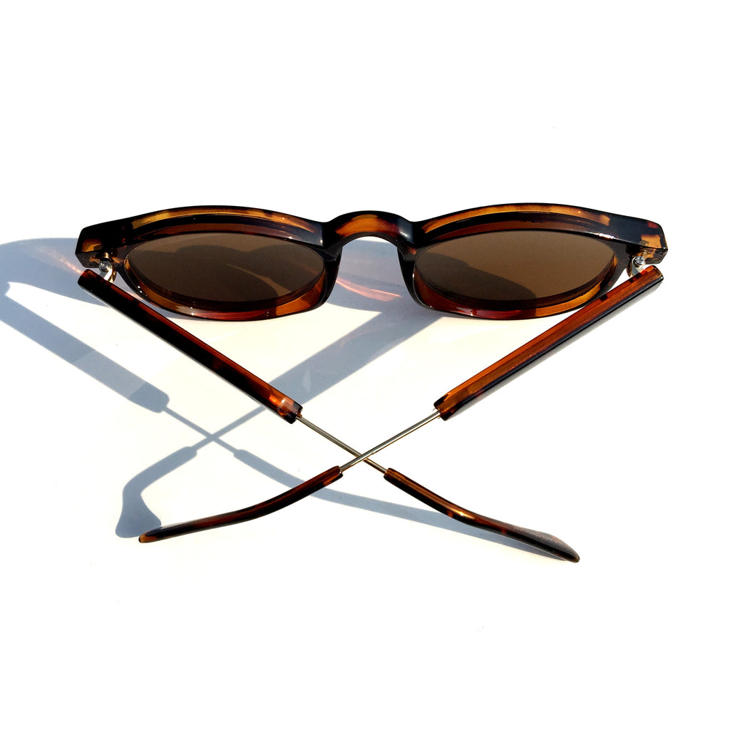 Very Popular WowAwesome Unique Design Brown Cat Eyes Retro Vintage Style Sunglasses Goggle Shades - WowAwesomeStuff  - 4