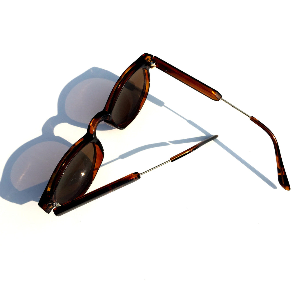 Very Popular WowAwesome Unique Design Brown Cat Eyes Retro Vintage Style Sunglasses Goggle Shades - WowAwesomeStuff  - 5