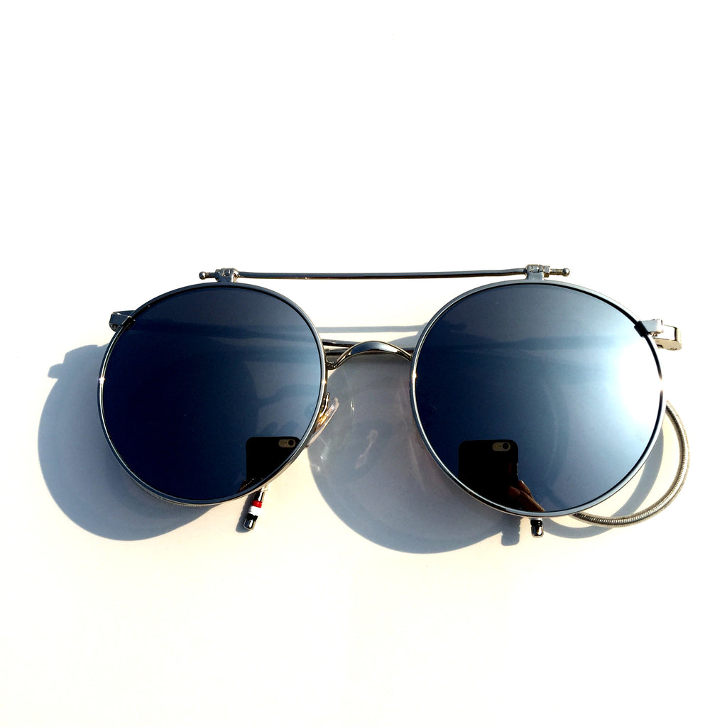 Mirrored Silver  Flip-open Retro Classical Reactionary Gang Sunglasses - WowAwesomeStuff  - 2
