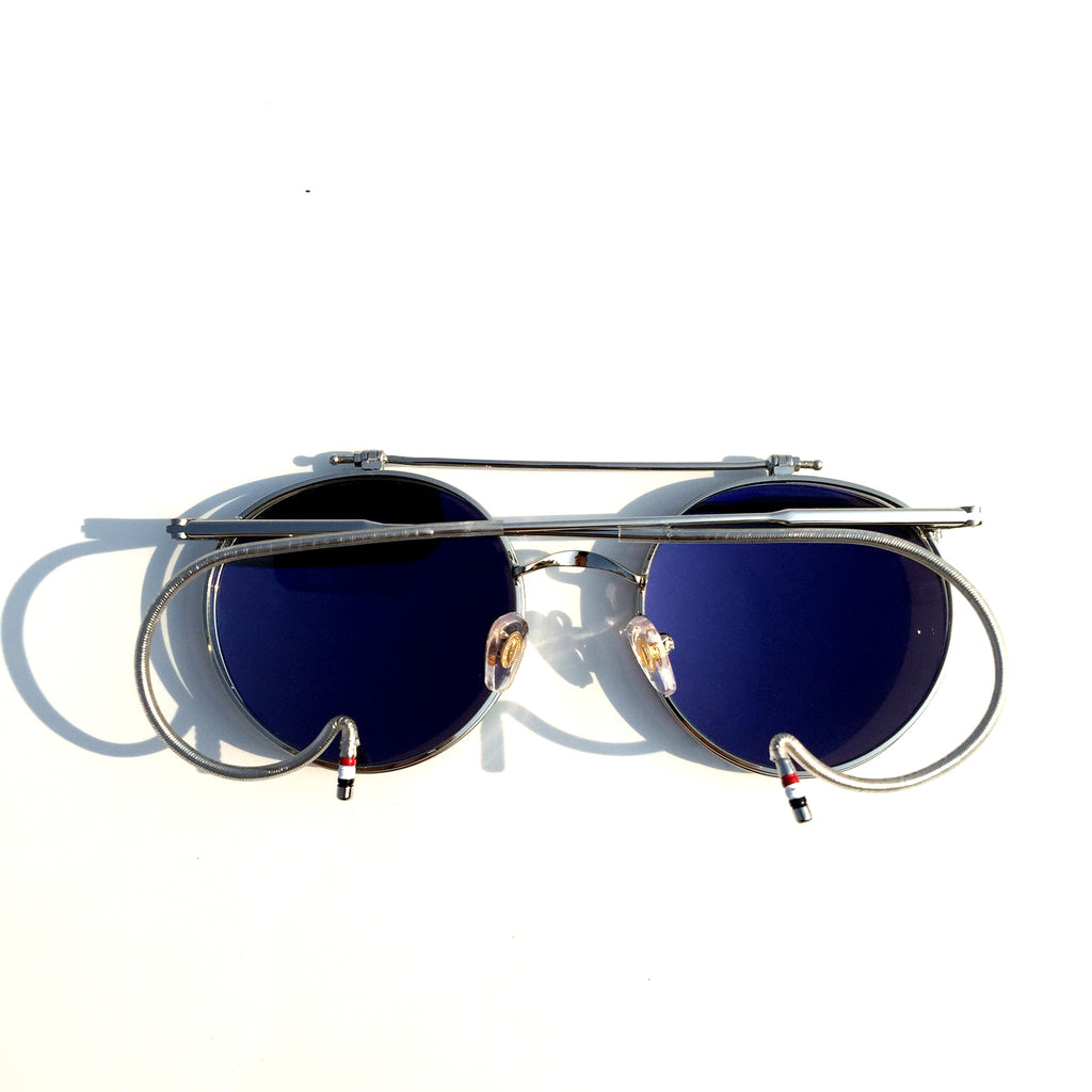Mirrored Silver  Flip-open Retro Classical Reactionary Gang Sunglasses - WowAwesomeStuff  - 3