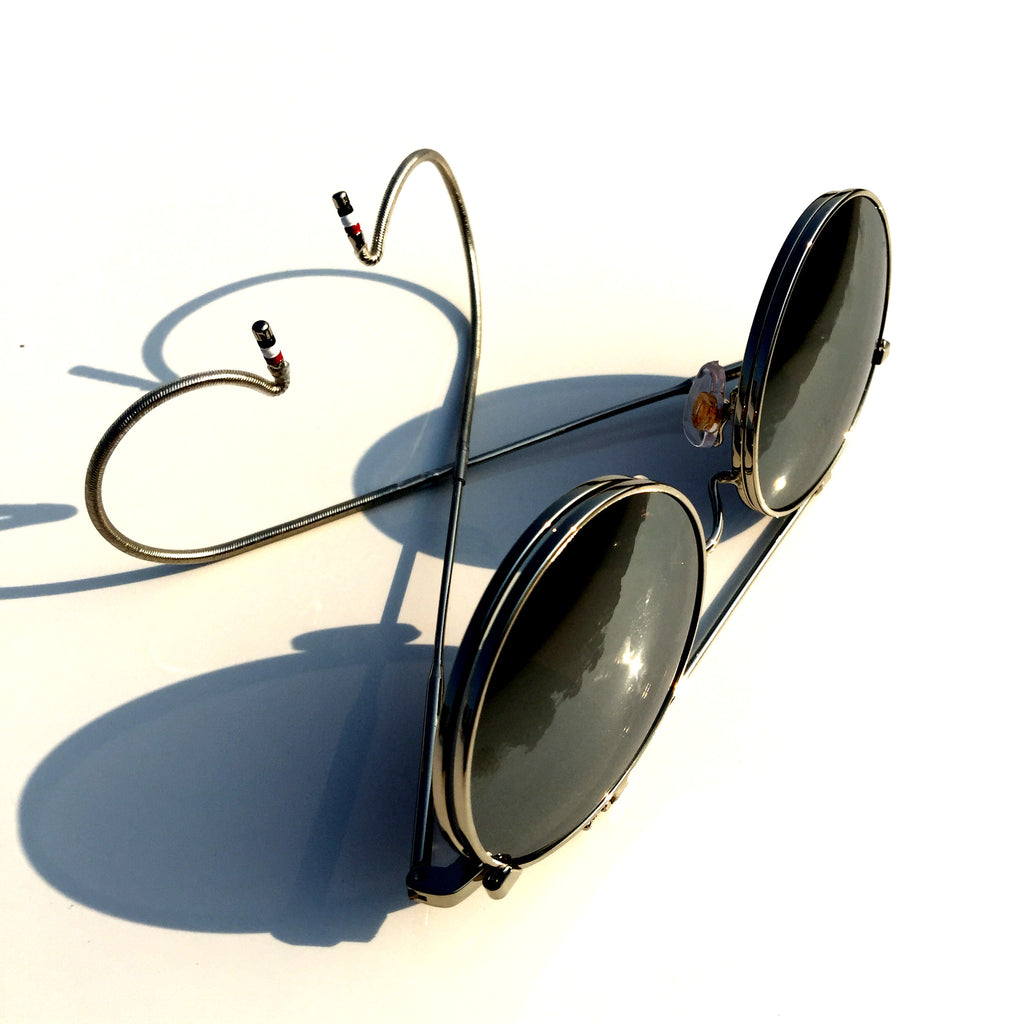 Mirrored Silver  Flip-open Retro Classical Reactionary Gang Sunglasses - WowAwesomeStuff  - 5