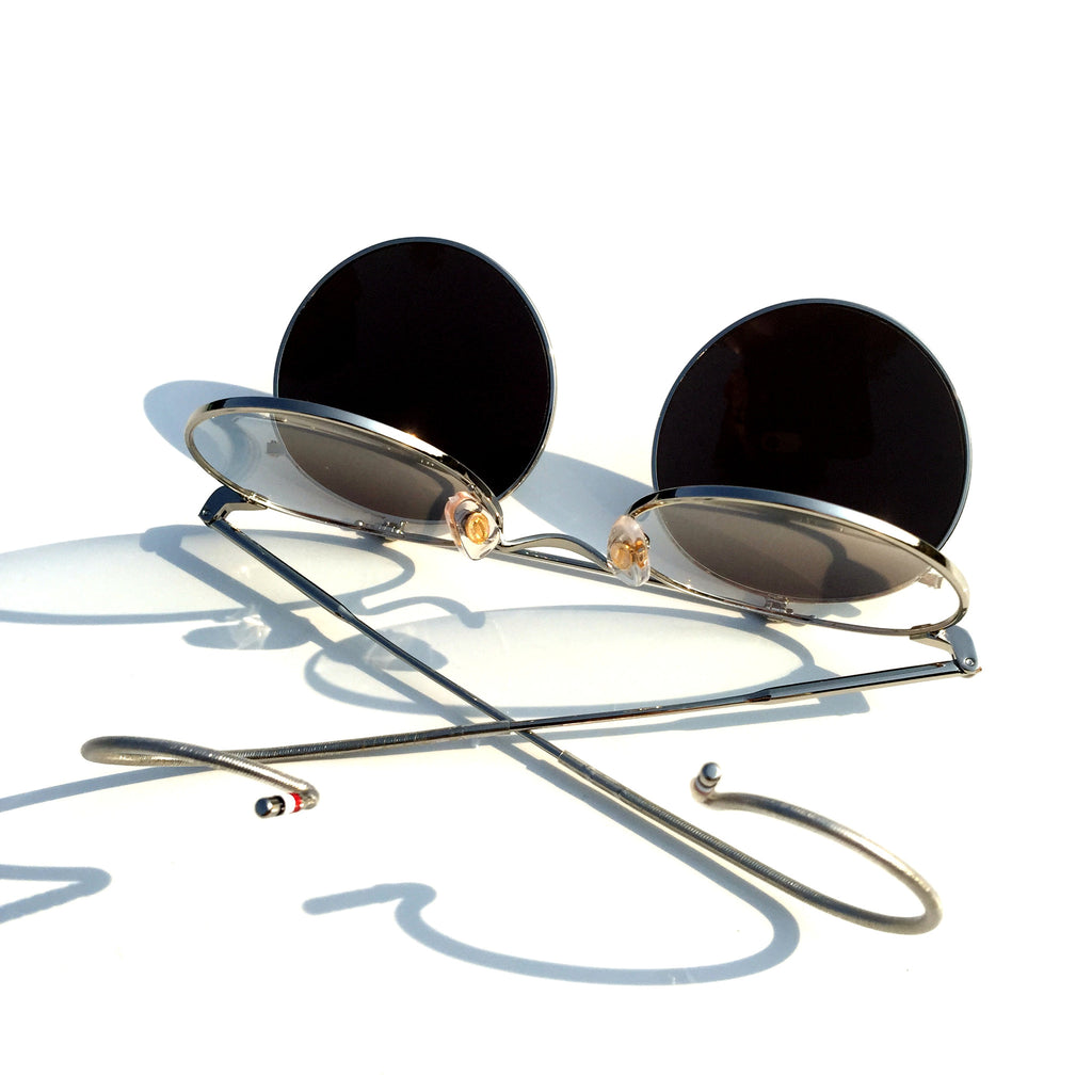 Mirrored Silver  Flip-open Retro Classical Reactionary Gang Sunglasses - WowAwesomeStuff  - 7