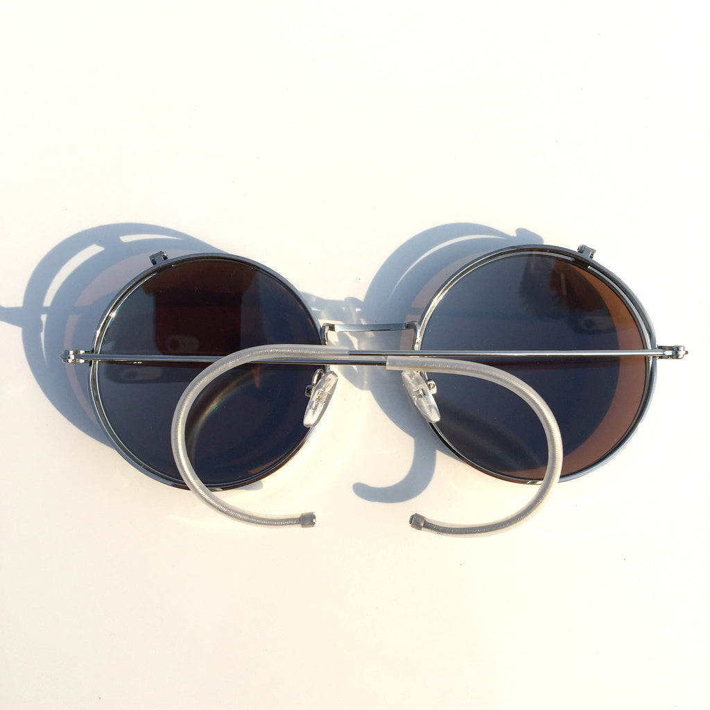 Vintage Retro Style Collapsible Blue Steampunk Punk Goggle Sunglasses Shades for Women Men - WowAwesomeStuff  - 3