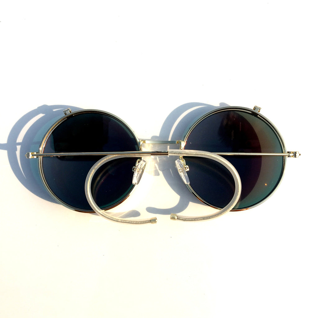 Orange Round Steampunk Punk Goggle Sunglasses Shades - WowAwesomeStuff  - 4