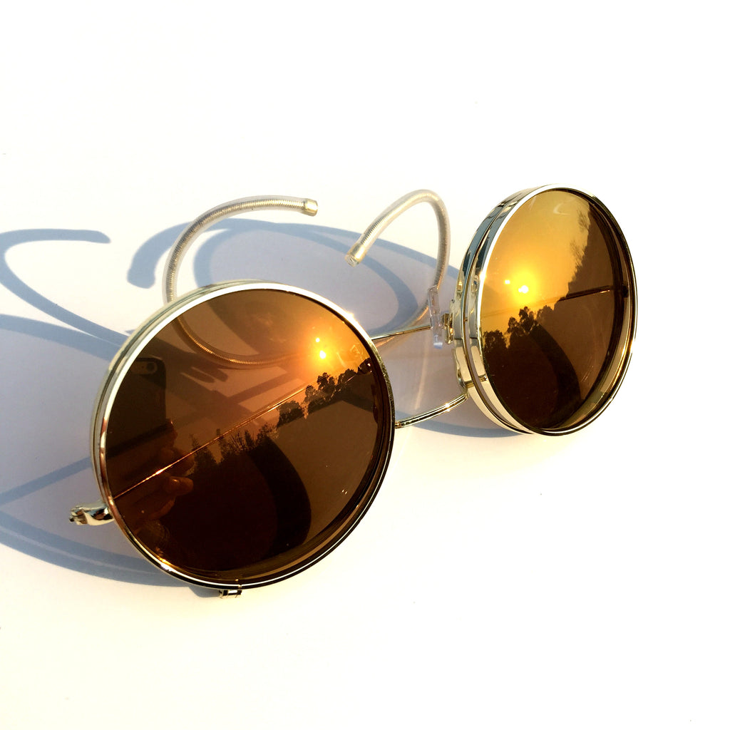 Vintage Retro Steampunk Punk Style Women Men Brown Goggle Sunglasses Shades Sun Glasses - WowAwesomeStuff  - 5