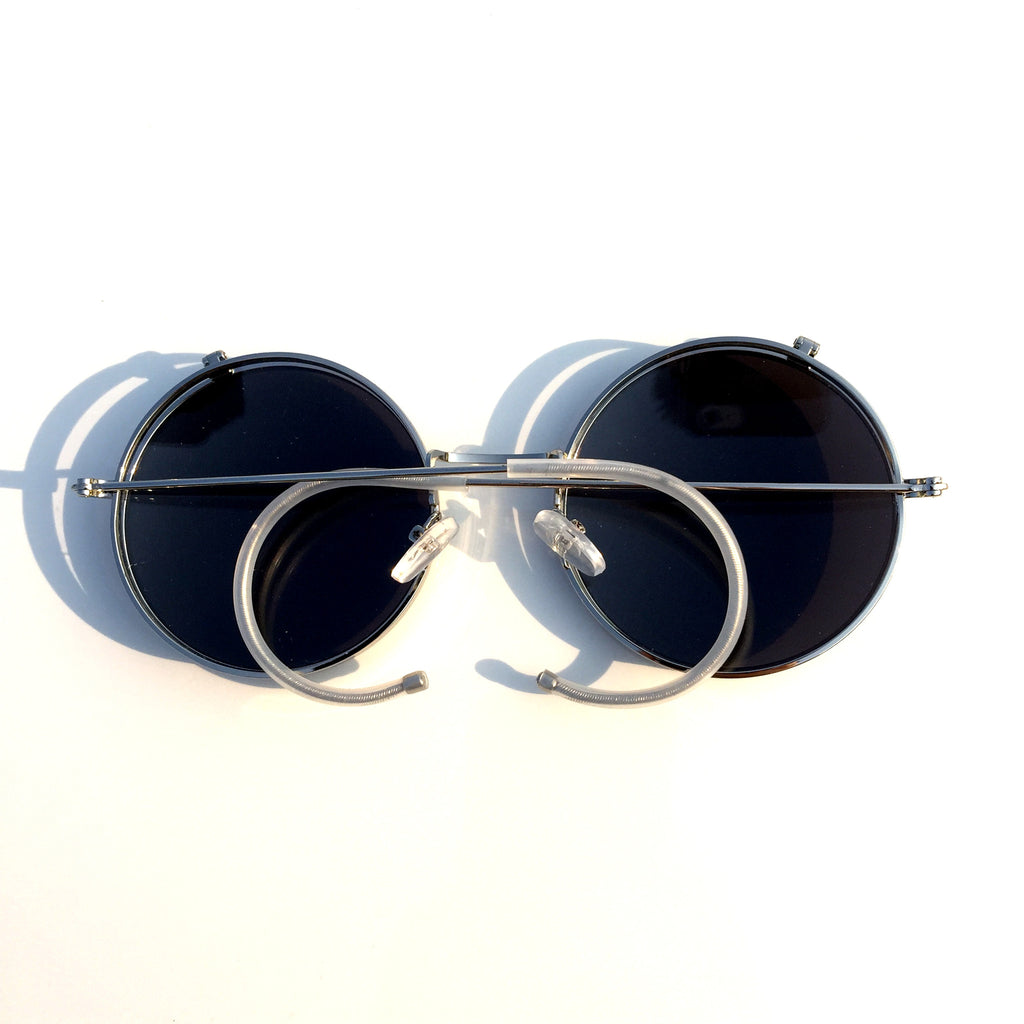 Mirrored Silver Steampunk Punk Burning Man Goggle Sunglasses Shades - WowAwesomeStuff  - 3