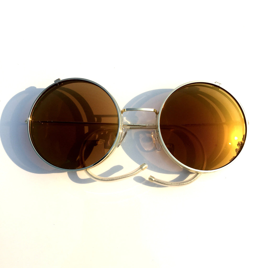 Vintage Retro Steampunk Punk Style Women Men Brown Goggle Sunglasses Shades Sun Glasses - WowAwesomeStuff  - 6