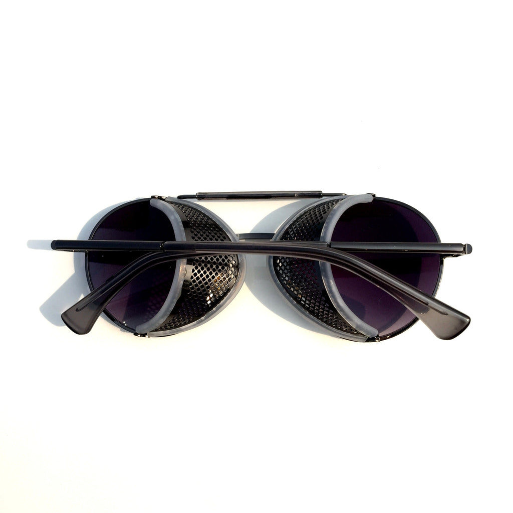 Very Cool Design Burning Man Black Steampunk Punk Goggles Sunglasses Shades for Men Women - WowAwesomeStuff  - 2