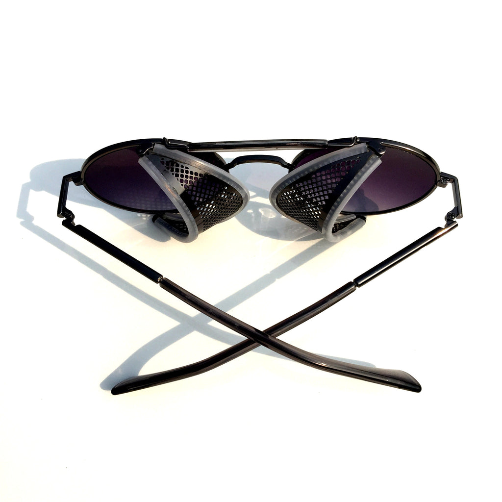 Very Cool Design Burning Man Black Steampunk Punk Goggles Sunglasses Shades for Men Women - WowAwesomeStuff  - 3