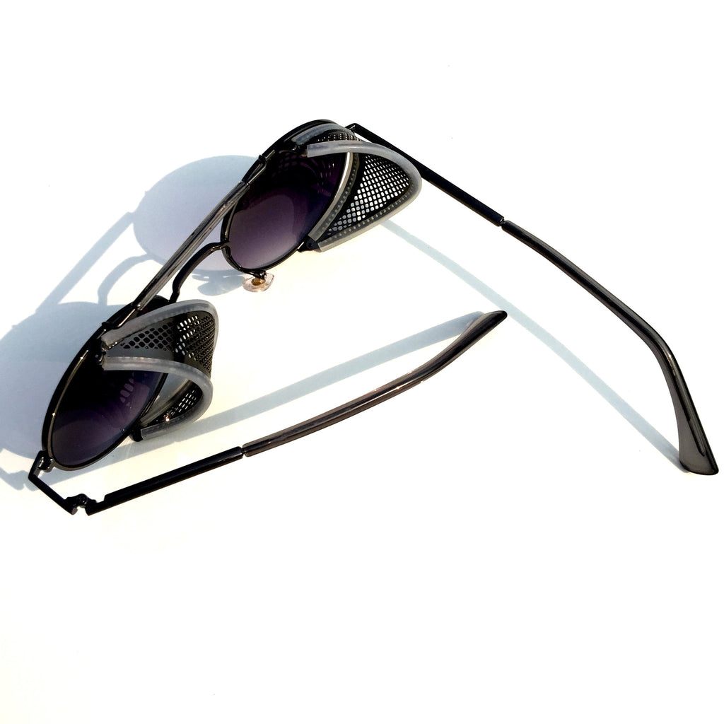 Very Cool Design Burning Man Black Steampunk Punk Goggles Sunglasses Shades for Men Women - WowAwesomeStuff  - 4