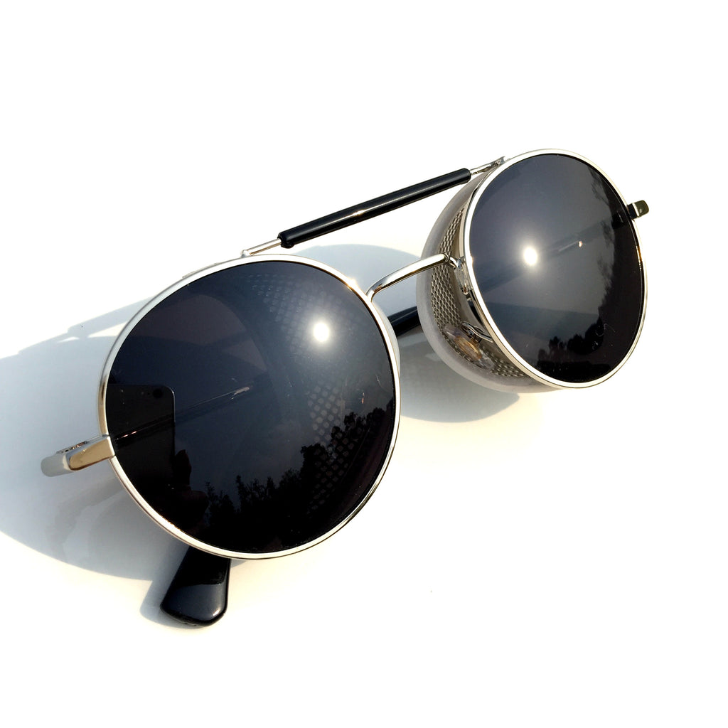Very Cool Design Burning Man Black Steampunk Punk Goggles Sunglasses Shades for Men Women - WowAwesomeStuff  - 6