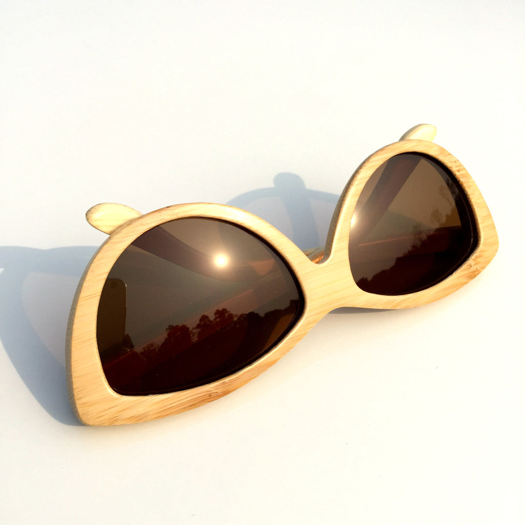2016 Brand New Craft Cat Eyes Handmade Ladies Women Bamboo Sunglasses Goggle Shades - WowAwesomeStuff  - 5