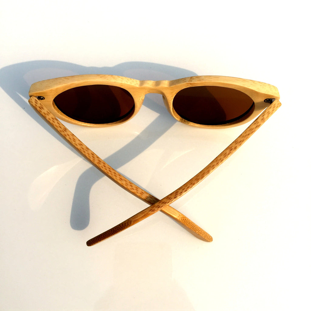 2016 Brand New Bamboo Handmade Cat Eye Wood Sunglasses Goggle Shades Sun Glasses - WowAwesomeStuff  - 4