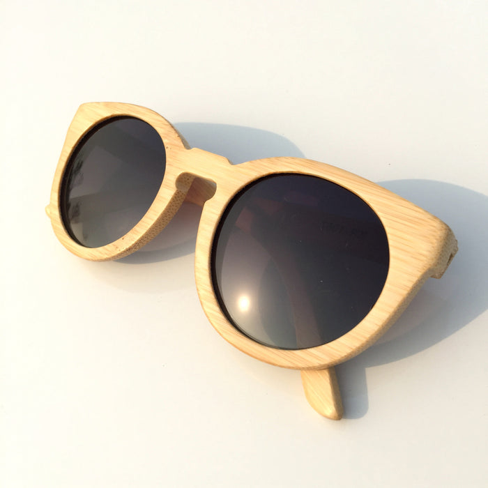 2015 Brand New Bamboo Craft Cat Eyes Women Men Wood Pilot Sunglasses Shades Sun Glasses - WowAwesomeStuff  - 1