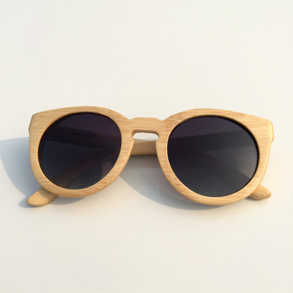2015 Brand New Bamboo Craft Cat Eyes Women Men Wood Pilot Sunglasses Shades Sun Glasses - WowAwesomeStuff  - 2