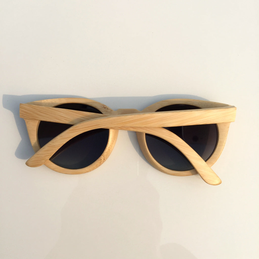 2015 Brand New Bamboo Craft Cat Eyes Women Men Wood Pilot Sunglasses Shades Sun Glasses - WowAwesomeStuff  - 3