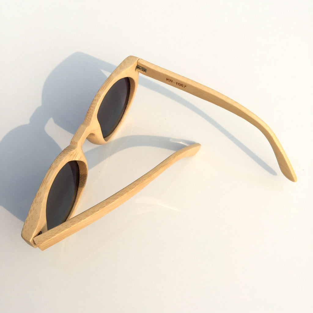 2015 Brand New Bamboo Craft Cat Eyes Women Men Wood Pilot Sunglasses Shades Sun Glasses - WowAwesomeStuff  - 4