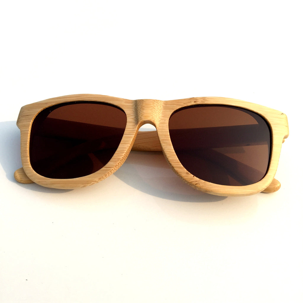 Brown Aviator Retro Vintage Handmade Wood Bamboo Sunglasses Shades Goggles - WowAwesomeStuff  - 2