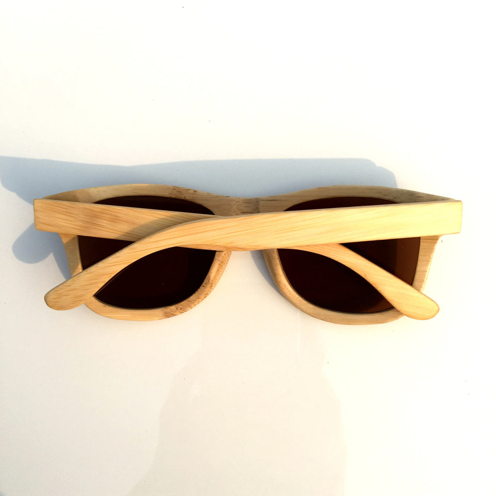 Brown Aviator Retro Vintage Handmade Wood Bamboo Sunglasses Shades Goggles - WowAwesomeStuff  - 3