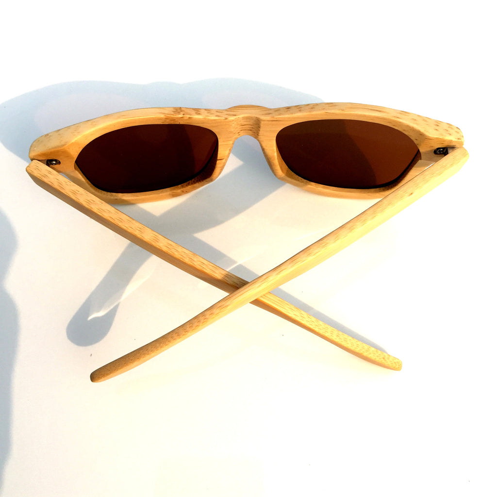 Brown Aviator Retro Vintage Handmade Wood Bamboo Sunglasses Shades Goggles - WowAwesomeStuff  - 4