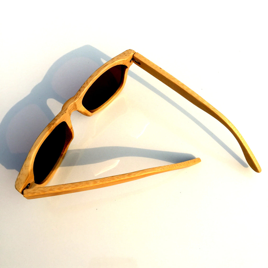 Brown Aviator Retro Vintage Handmade Wood Bamboo Sunglasses Shades Goggles - WowAwesomeStuff  - 5