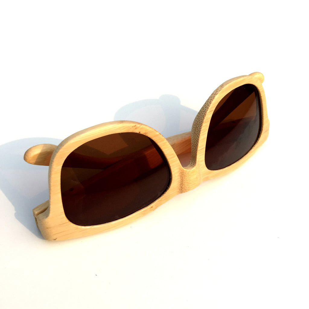 Brown Aviator Retro Vintage Handmade Wood Bamboo Sunglasses Shades Goggles - WowAwesomeStuff  - 6