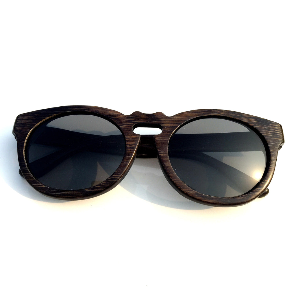 Cat Eyes Retro Vintage Handmade Wood Bamboo Sunglasses Shades Goggles - WowAwesomeStuff  - 2