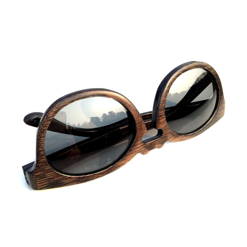 Cat Eyes Retro Vintage Handmade Wood Bamboo Sunglasses Shades Goggles - WowAwesomeStuff  - 6