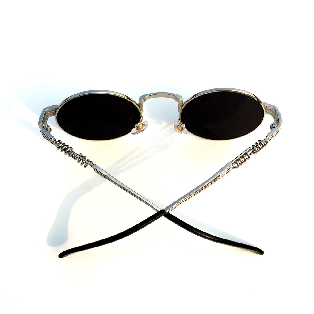 Burning Man  WowAwesome Unique Design Silver Mirrored Steampunk Punk Sunglasses Shades Goggles - WowAwesomeStuff  - 4