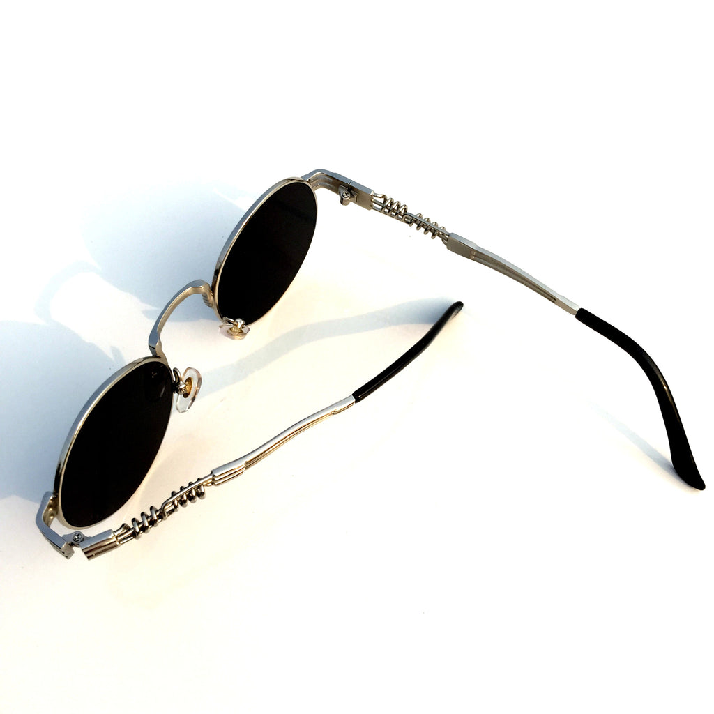 Burning Man  WowAwesome Unique Design Silver Mirrored Steampunk Punk Sunglasses Shades Goggles - WowAwesomeStuff  - 5