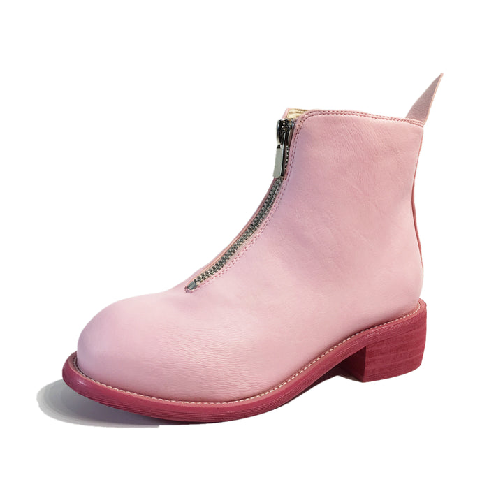 HANSCHIC 2017 Handmade Chic Pink Ladies Women Boot Shoes for Female