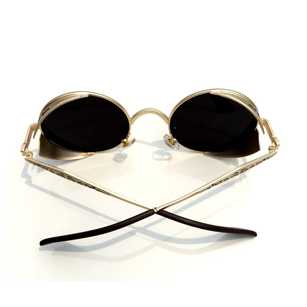 1 Unique Design Black Retro Steampunk Punk Burning Man Sunglasses Shades Sunnies Goggles for Men Women - WowAwesomeStuff  - 4
