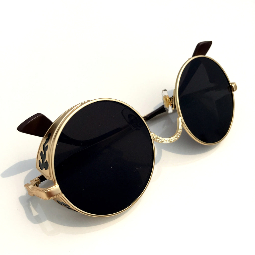 1 Unique Design Black Retro Steampunk Punk Burning Man Sunglasses Shades Sunnies Goggles for Men Women - WowAwesomeStuff  - 6
